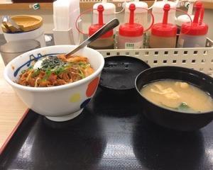 1月23日夕食(松屋 ビビン丼)