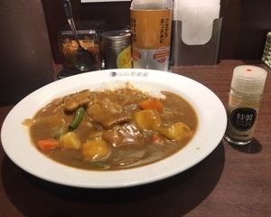 2月17日夕食(ココイチ グランド・マザー・カレー)