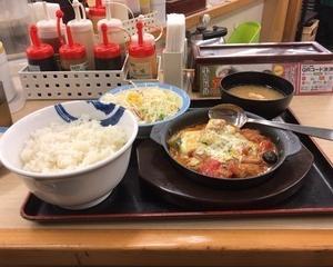 2月18日夕食(松屋 カチャトーラ定食)