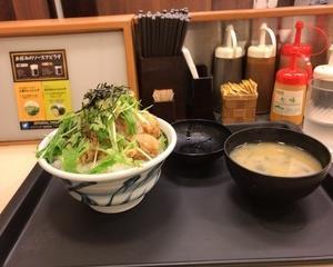 松のや 塩ダレ鶏カラ丼