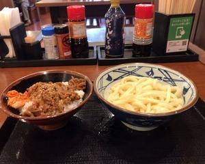 丸亀製麺 牛焼肉丼・かけうどん