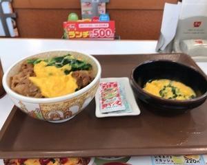 すき家 横濱オム牛丼・ふわとろオム