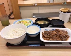 松屋 カルビ焼肉定食(お肉33%増量)