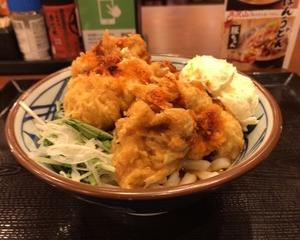 丸亀製麺 赤タル鶏天ぶっかけ