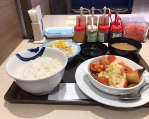 松屋 鯖のチーズトマトグリル定食
