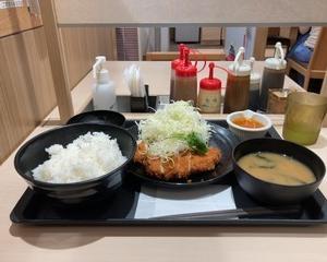 【新発売】松のや 白髪ねぎとキラキラ塩ダレのささみかつ定食