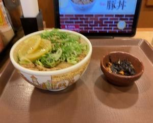 すき家 ねぎ塩レモン豚丼・季節のひじき煮