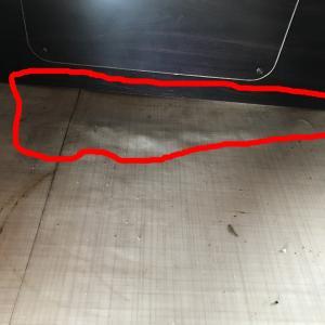 バゲージルーム床の劣化の修理DIY その2