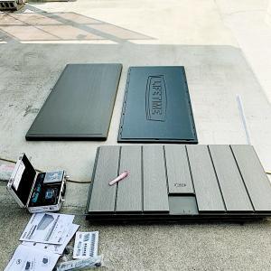 コストコLIFETIME屋外収納ベンチ 組み立て設置