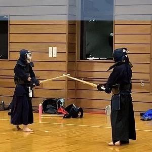 二男の剣道稽古