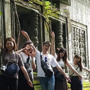 大学生6名様カンボジアグループ旅行!プリアヴィヒア・コーケー ・ベンメリア 遺跡1日ツアー