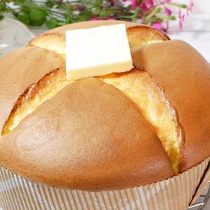 【孤独のグルメ風】カステラスフレパンケーキ【ダイソーの紙型で作る】