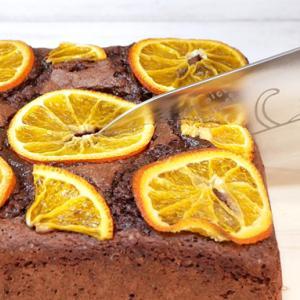 板チョコとホットケーキミックスで作る 爽やかオレンジブラウニー