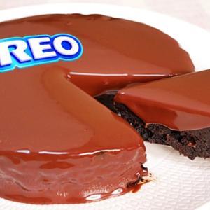 とても簡単!オレオと牛乳で作るチョコレートケーキ[小麦粉、卵、ココアなし]