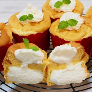 生クリームたっぷり カップシフォンケーキの作り方