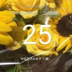 【二次試験まであと25日】ぼちぼちと勉強記録