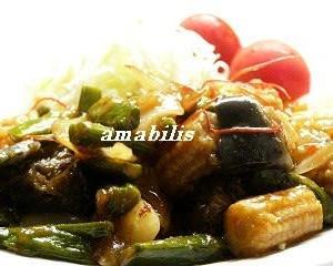 烏賊とベビーコーンの中華炒めセット