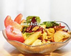 海老と野菜のサラダ
