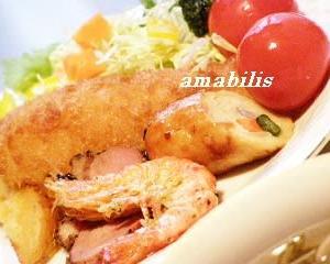 お肉と野菜の定食