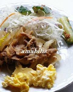 牛丼にたっぷり野菜つき風