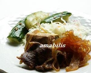すき焼きと野菜のセット