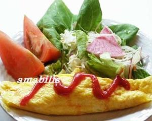 オムレツと野菜のセット