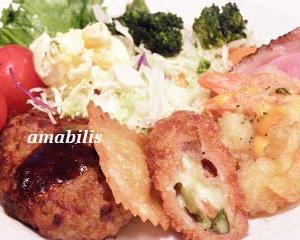 お肉と野菜のワンプレート