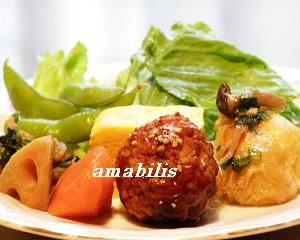 肉団子と野菜のセット