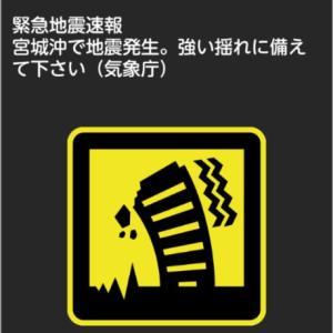地震速報に ビックリ!(*_*;
