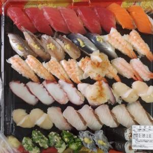 夕食は はま寿司テイクアウト (●^o^●)