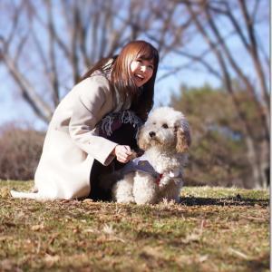 上野未菜ちゃんの愛犬メルちゃんは思ったより大きかった。