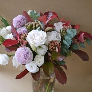 秋色・秋の花を花瓶に・・・