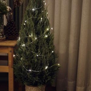 クリスマスツリーにIKEAのライトチェーン☆