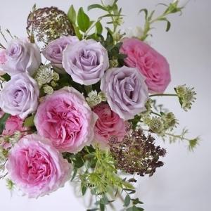 花瓶選び☆バラのブーケ