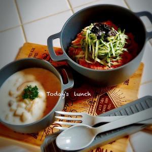bebe&coco  ψ(๑'ڡ'๑)ψ   0糖質麺を使って《たらこスパゲティ弁当》!