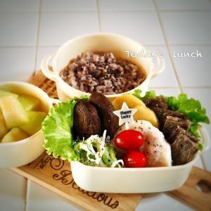 bebe&coco  ψ(๑'ڡ'๑)ψ  雑穀米で《紫トウモロコシご飯》!