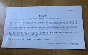 マックの優待券の期限が延びたΣ(゚Д゚