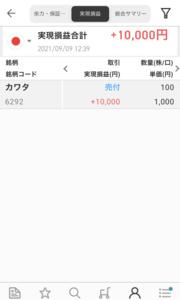 株を売った〜利益1万円