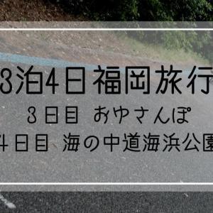 3泊4日の福岡旅行 <3日目 おゆさんぽ・4日目 海の中道海浜公園 >
