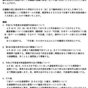 令和2年度 富田林少年軟式野球連盟 臨時役員会にて