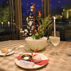 箱根仙石原 ザ・ひらまつのホテルでいただいたディナー