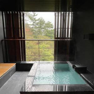 星のやグーグァン 「風音」宿泊記2  2階の温泉エリア