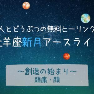4/14 牡羊座新月〈創造の始まり〉人とどうぶつの無料ヒーリング