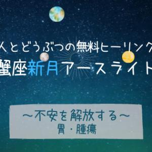 7/9 蟹座新月前夜〈不安を解放する〉人とどうぶつの無料ヒーリング