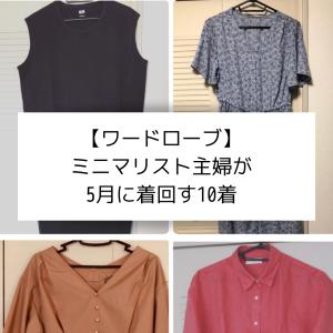 【服】ミニマリスト主婦が2020年5月にGU・ユニクロで着回す春夏服10着