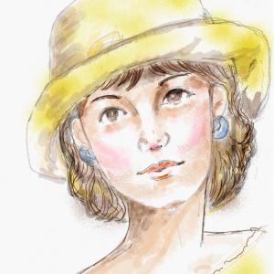 帽子の婦人