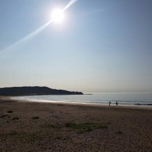 今朝の御宿海岸