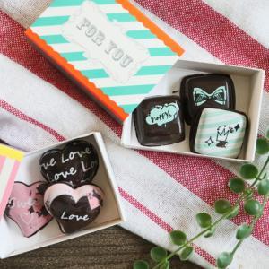 【ダイソー】お手軽&可愛い♡転写モールドでバレンタインチョコ♪