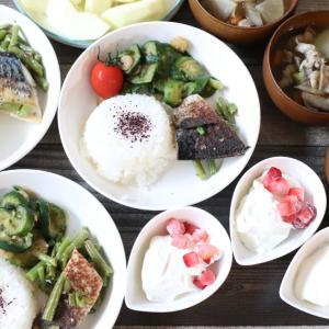 作り置きと、冷凍野菜で朝ごはん\(^o^)/