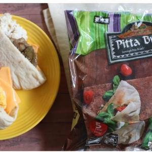 【業スー】忙しい朝に便利!コスパ抜群の冷凍ピタパンで残りものをアレコレ挟んで朝食に